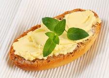 Melba toast with spread Stock Photos