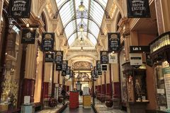 Melbourne – The Block Arcade. View of the most beautiful and elegant The Block Arcade, in Melbourne, Victoria, Australia Stock Photography