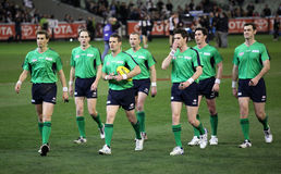 MELBOURNE - 21. AUGUST: Schiedsrichter Stockfotos