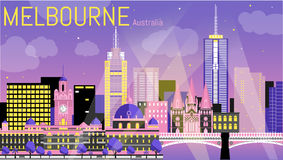 melbourne royaltyfri illustrationer