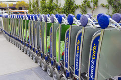 Melbourne Airport Baggage Trolleys Stock Photography