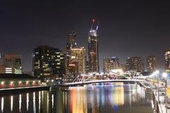 Melbourne alla notte Fotografia Stock Libera da Diritti