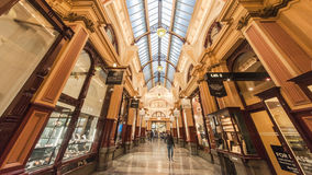 Melbourne Arcade Mall. Melbourne`s Bourke Street Mall brings together shopping malls and boutiques, while the Block Arcade and Royal Arcade are some of the Royalty Free Stock Photos