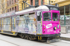 Melbourne Art Tram Imagem de Stock Royalty Free