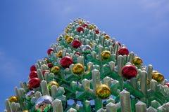 Melbourne, Austrália - 16 de dezembro de 2017: Close up bonito da árvore de Natal Quadrado da federação, Melbourne do centro Imagens de Stock