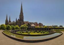 Melbourne, Austr?lia, Victoria 18 de dezembro de 2013 Catedral do ` s de St Patrick imagem de stock