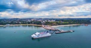 Melbourne, Australië - Maart 26, 2017: Passagier en autoveerboot a stock afbeeldingen