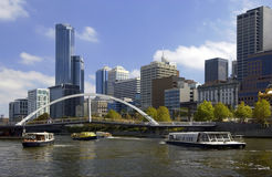 Melbourne - Australia. The Yarra River and the city of Melbourne, the capital of Victoria in Australia royalty free stock images