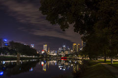 MELBOURNE, AUSTRALIA - APRIL 2014: Skyline by night. Time Stock Photography