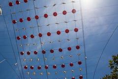 Melbourne, Australia - 16 de diciembre de 2017: Decoraciones de la Navidad en Bourke Street, céntrico Imagen de archivo libre de regalías
