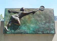 Placa de la corte de Margaret en el centro australiano del tenis en MELBOURNE, AUSTRALIA. Imagen de archivo