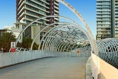 MELBOURNE, AUSTRALIA - 21 DE FEBRERO DE 2016: Vista al puente de Webb - Foto de archivo libre de regalías