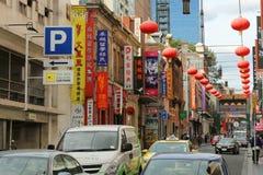 MELBOURNE, AUSTRALIA - 15 de marzo de 2017: Chinatown es un Ch étnico Imagen de archivo libre de regalías