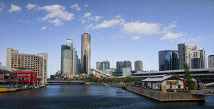 MELBOURNE, AUSTRALIA - DECEMBER 30, 2014: Yara River runs th Stock Image
