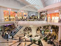 Atrium at Chadstone Shopping Centre in Melbourne, Australia. Melbourne, Australia - February 24, 2018: atrium at Chadstone Shopping Centre opened in October 2016 royalty free stock photo