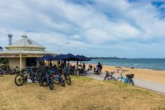 Point Ormond Cafe on the Elwood Beach foreshore in Melbourne. Stock Photography