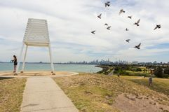 Point Ormond by Port Phillip Bay in Elwood in inner Melbourne. Royalty Free Stock Photos