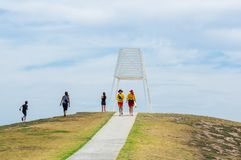 Point Ormond by Port Phillip Bay in Elwood in inner Melbourne. Stock Photo