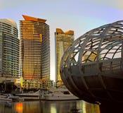MELBOURNE, AUSTRALIA - FEBRUARY 21, 2016: Webb bridge in Docklan Royalty Free Stock Photography