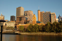 Melbourne, Australia (III). Melbourne city skyline as seen from the Southbank of the Yarra river Royalty Free Stock Image