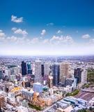 Aerial view of Melbourne on Melbourne, Australia. stock photo