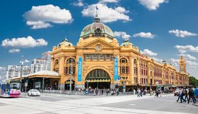 Flinders street Station in Melbourne. Australia. Stock Photos