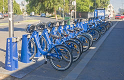 MELBOURNE, AUSTRALIA - JANUARY 12, 2015: City bikes for rent on Stock Image