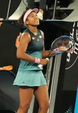 Grand Slam Champion Naomi Osaka of Japan celebrates victory after her semifinal match at 2019 Australian Open in Melbourne Park. MELBOURNE, AUSTRALIA - JANUARY stock images