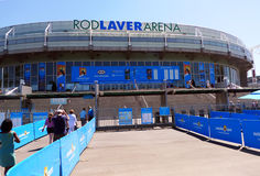 Rod Laver arena  at Australian tennis center in MELBOURNE, AUSTRALIA. Stock Photo
