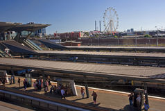 MELBOURNE, AUSTRALIA - JANUARY 12, 2015: The train station in Me royalty free stock photos