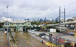 MELBOURNE, AUSTRALIA - JANUARY 13, 2015: The view from the ferry Stock Photography