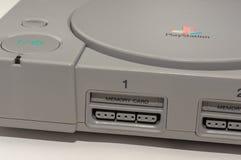 Melbourne Australia, Lipiec, - 23rd 2018: Zakończenie i przechylający widok Sony ` s PlayStation Oryginalna konsola, zdjęcia stock