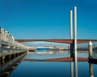MELBOURNE AUSTRALIA, LUTY, - 21, 2016: Ładunku statek w Fotografia Stock