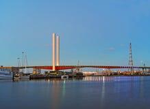 MELBOURNE AUSTRALIA, LUTY, - 21, 2016: Widok przy Bolte mostem a Obrazy Stock