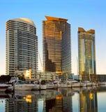 MELBOURNE AUSTRALIA, LUTY, - 21, 2016: Widok przy wysokim waterfr Obrazy Royalty Free