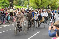 Melbourne, Australia - Mar 14, 2016: The annual Moomba parade on St Kilda road royalty free stock photo