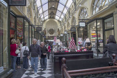 MELBOURNE, AUSTRALIA MAR 18TH: The Royal Arcade in Melbourne on Royalty Free Stock Photo