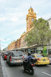 MELBOURNE, AUSTRALIA - March 15, 2017: Afternoon traffic on Flinders Street Station Royalty Free Stock Image