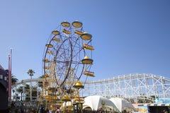 Luna Park Ferris Wheel - Melbourne. Melbourne, Australia: March 18, 2017: The ferris wheel at Melbourne`s Luna Park. The historic amusement park located on the Royalty Free Stock Images