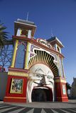 Luna Park Melbourne. Melbourne, Australia: March 13, 2017: Main Gate of Luna Park. Melbourne`s Luna Park is a historic amusement park located on the foreshore of Royalty Free Stock Image