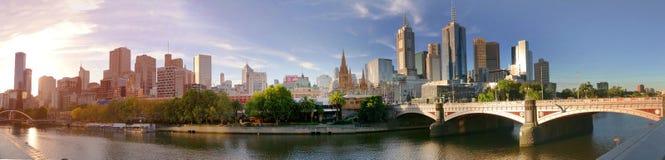 Melbourne Australia, Marzec, - 21, 2018: Melbourne w centrum panorama w zmierzchu Zdjęcie Royalty Free