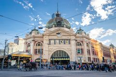 Melbourne, AUSTRALIA-11/04/18: Melbourne city`s historic buildin stock images