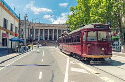 MELBOURNE, AUSTRALIA - OCTOBER 9, 2015: W class tram in City Cir Royalty Free Stock Photo