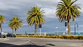 Melbourne, Australia - Plażowy Drogowy skrzyżowanie zdjęcie royalty free