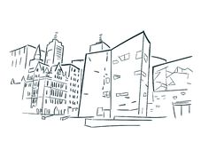 Melbourne Australia sketch vector city clip art. Melbourne Australia sketch vector city stock illustration