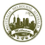 Melbourne, Australia stamp Royalty Free Stock Photography