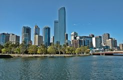 Melbourne Skyline. Melbourne is an Australian city, capital and largest city of the state of Victoria. Chosen since 2011 as the best city in the world to live stock photos