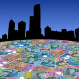 Melbourne with Australian dollars Stock Images