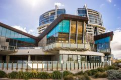 Melbourne, Australien - HMAS-Wohngebäude in Port-Melbourne stockfotos