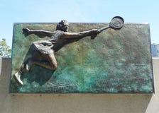 Margaret-Gerichtsplakette in der australischen Tennismitte in MELBOURNE, AUSTRALIEN. Stockbild